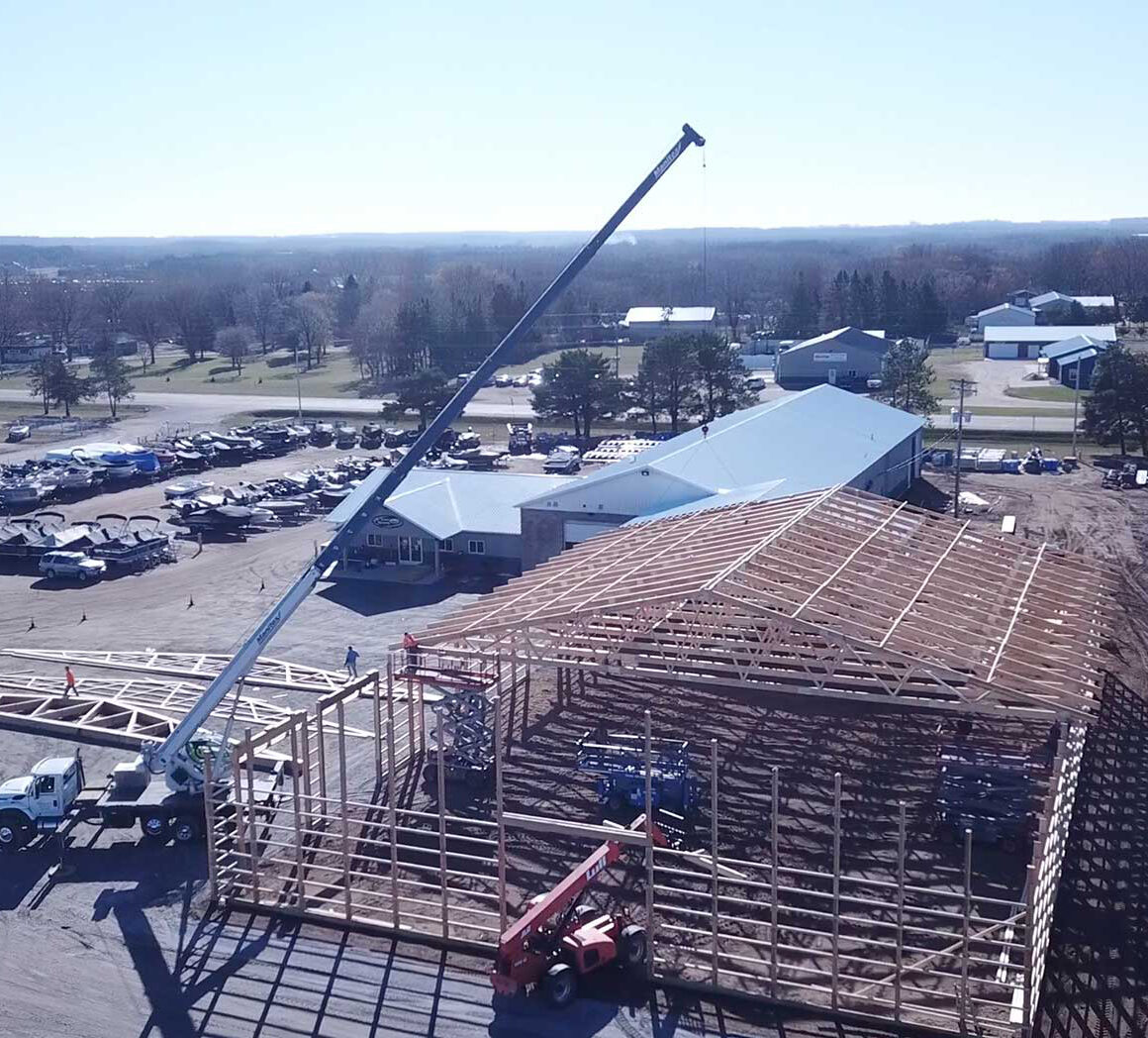 Pole Barn Truss Setting Richmond MN